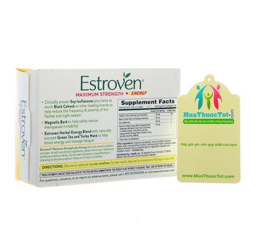 Thành phần nổi bật của Estroven Maximum Strength + Energy: