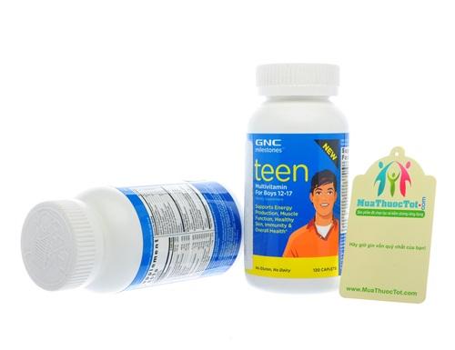 GNC Milestones Teen Multivitamin cung cấp Vitamin và khoáng chất