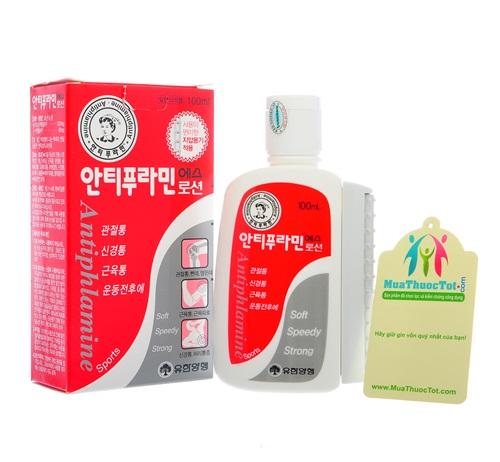 Dầu xoa bóp Hàn Quốc Antiphlamine Lotion đẩy lùi các cơn đau nhức