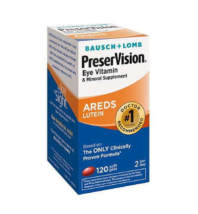 Bausch Lomb PreserVision cung cấp đầy đủ dưỡng chất cho đôi mắt đẹp