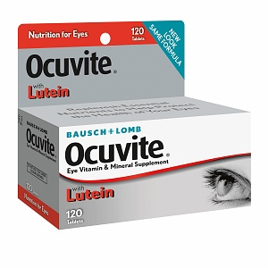 Bausch + Lomb Ocuvite Eye Vitamin & Mineral Supplement with Lutein giúp mắt sáng