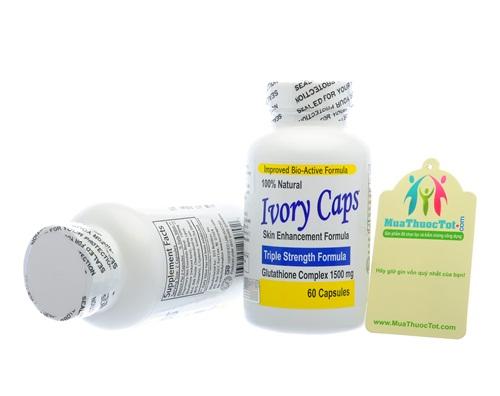 Thuốc uống Ivory Caps làm trắng da không tì vết