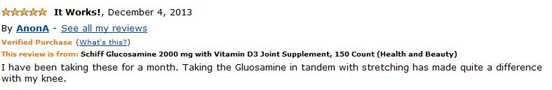 Đánh giá người dùng Schiff Glucosamine 2500 mg Plus Vitamin D3