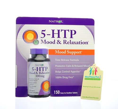 Natrol® 5-HTP Mood Enhancer giúp giảm Stress, xua tan căng thẳng, mệt mỏi