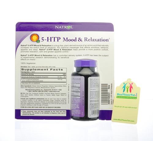 Thành phần chính Natrol® 5-HTP Mood Enhancer