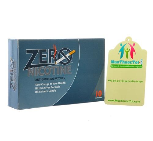 Miếng dán cai thuốc lá hiệu quả Zero Nicotine Patches