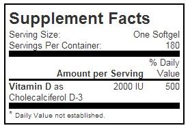 vitamin d3 200 iu