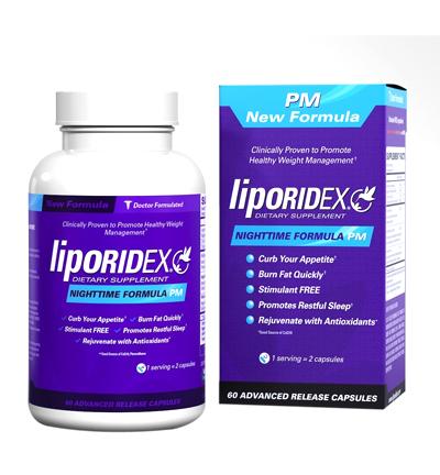 Liporidex Nighttime Formula PM giúp goảm cân hiệu quả và an toàn