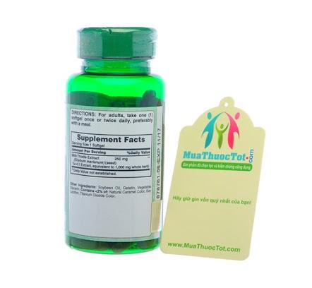 Vitamin world milk thistle 1000 mg 90 viên