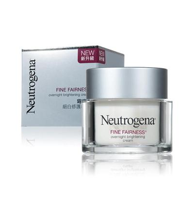 Neutrogena fine fairness overnight brightening cream, kem dưỡng ẩm trắng da ban đêm, 50g
