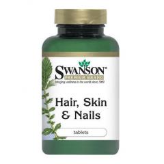 Swanson Hair Skin & Nails bổ sung dinh dưỡng hoàn hảo cho tóc, chăm sóc da và móng tay