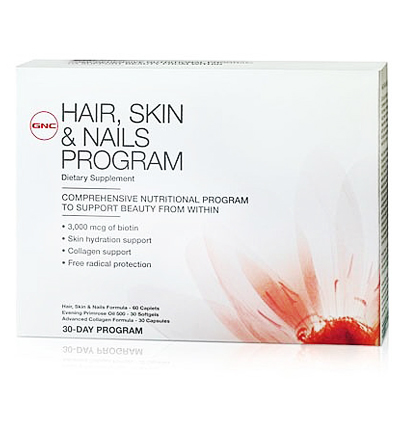 Gnc hair skin nails program