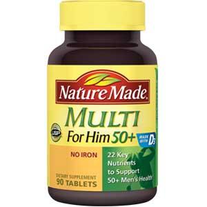 Natural Made Multi For Him 50+ Tablet cung cấp đầy đủ dưỡng chất cho nam giới trên 50 tuổi