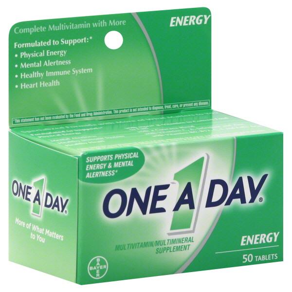 One-A-Day Energy Multivitamin- viên uống cung cấp Vitamin và hổ trợ sức khỏe tim mạch, 50 viên