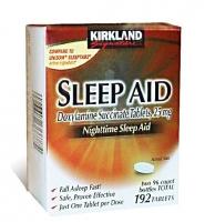 Kirkland Signature Sleep Aid Doxylamine succinate: Thuốc hổ trợ điều trị mất ngủ, 192 viên, 25 mg