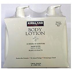 Kirkland Body Lotion Made with 100% Pure Plant Extracts- Bộ Kem dưỡng da toàn thân, 650 ml