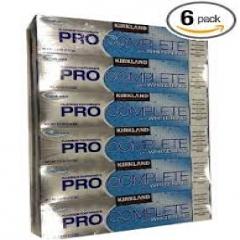 Kirkland Signature Fresh Mint Fluoride Pro Complete Plus Whitening Toothpaste- Kem đánh răng ( 213g x 6 )