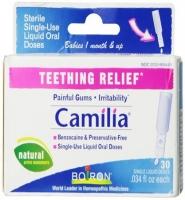 Boiron Camilia Teething Relief thuốc giảm đau, hỗ trợ quá trình mọc răng của bé, 30 ống