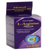 Natrol L-Arginine 3000 mg: Thuốc giúp hỗ trợ giãn mạch máu và tăng ham muốn tình dục, 90 viên
