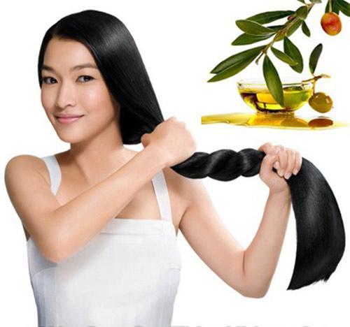 Image result for làm đẹp tóc bằng dầu oliu