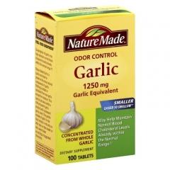 Nature Made Odor Control Garlic - Viên Dầu tỏi Giúp duy trì sức khỏe tim mạch, 1250mg, 100 viên