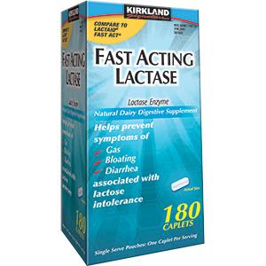 Kirkland Signature Fast Acting Lactase – Viên uống hỗ trợ tiêu hóa hiệu, 180 viên