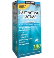Kirkland Signature Fast Acting Lactase – thuoc hỗ trợ tiêu hóa hiệu, 180 viên