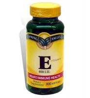 Spring Valley Vitamin E – viên uống bổ sung vitamin E cho cơ thể, 100 viên
