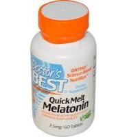 Doctors Best Quick Melt Melatonin 2.5mg: Thuoc bổ sung Melatonin, giúp ngủ ngon và tăng cường sức khỏe, 120 viên