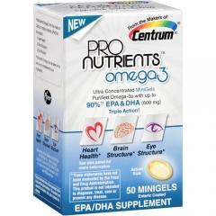 Centrum ProNutrients Omega-3: Viên bổ sung 0mega-3, hoàn thiện cấu trúc não, mắt và ngừa bệnh tim, 50 viên