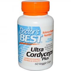Doctors Best Best Ultra Cordyceps Plus – Đông trùng hạ thảo tăng cường sinh lực, 750mg, 60 viên