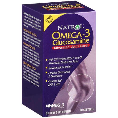 Natrol Natrol Glucosamine Omega 3 Supplement: Viên cung cấp glucosamine và Omega 3 cho xương khớp khỏe mạnh, 90 viên