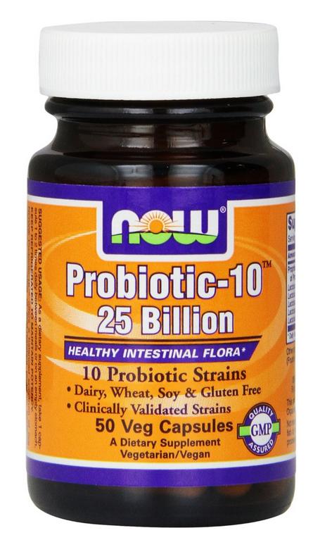 NOW Foods Probiotic-10 25 Billion cung cấp lượng lợi khuẩn Probiotic, hỗ trợ trong việc duy trì hệ đường ruột và hệ tiêu hóa khỏe mạnh