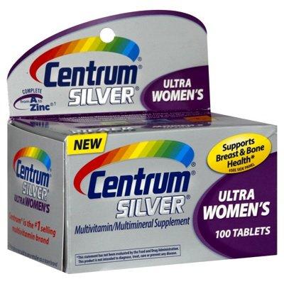 Centrum Silver Ultra Women's 50 plus: 100 viên, cung cấp Vitamin và khoáng chất thiết yếu cho phụ nữ trưởng thành.