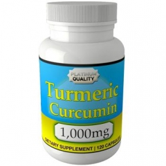 Eden Pond Turmeric Curcumin 1000 mg in Two Daily: Viên uống hỗ trợ điều trị các chứng đau dạ dày, chống oxy hóa, 120 viên