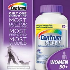 Centrum silver ultra women's 50+: Viên uống cung cấp vitamin và khoáng chất cho phụ nữ 250 viên