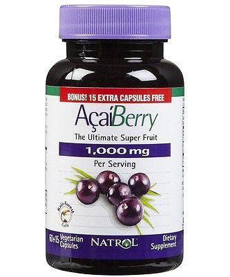 Natrol Acai Berry The Ultimate Super Fruit 1000 mg giúp chống oxy hóa