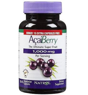 Natrol Acai Berry The Ultimate Super Fruit: viên uống chống oxy hóa, 75 viên, 1000 mg