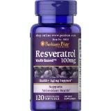 Puritan's Pride Resveratrol 100 mg: viên uống chống oxy hóa và hổ trợ tim mạch, 120 viên