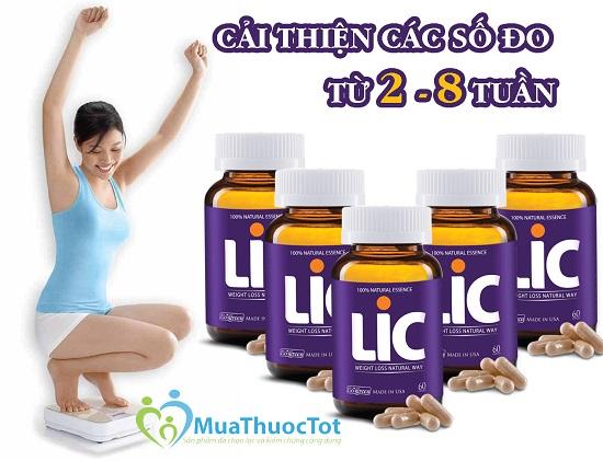 Thuốc giảm cân LIC được chiết xuất từ thành phần tự nhiên, an toàn khi sử dụng