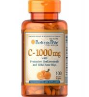 Prutian's Pride C- 1000 mg with Bioflavonoids and with Rose Hips: Viên bổ sung Vitamin C cho cơ thể, 100 viên, 1000 mg