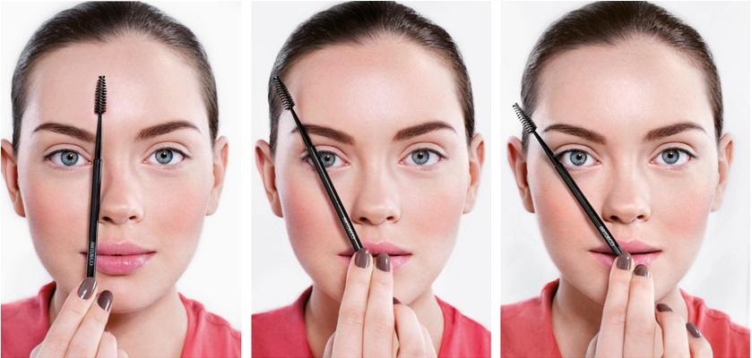 Đối với mặt tròn lông mày hình cánh cung nhưng vẫn có đường gấp rõ nét từ giữa lông mày trở xuống đuôi