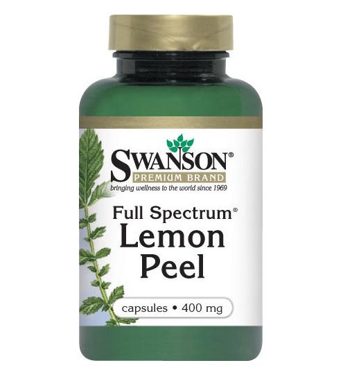 Swanson Full Spectrum Lemon Peel – Viên uống tăng cường năng lượng, chất chống oxy hóa cho cơ thể, 60 viên