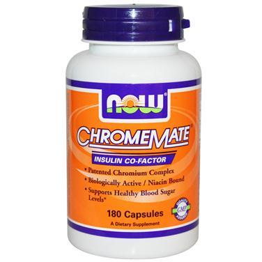 Now chromemate bổ sung crom giúp tăng cường chuyển hóa năng lượng cho cơ thể, 180 viên