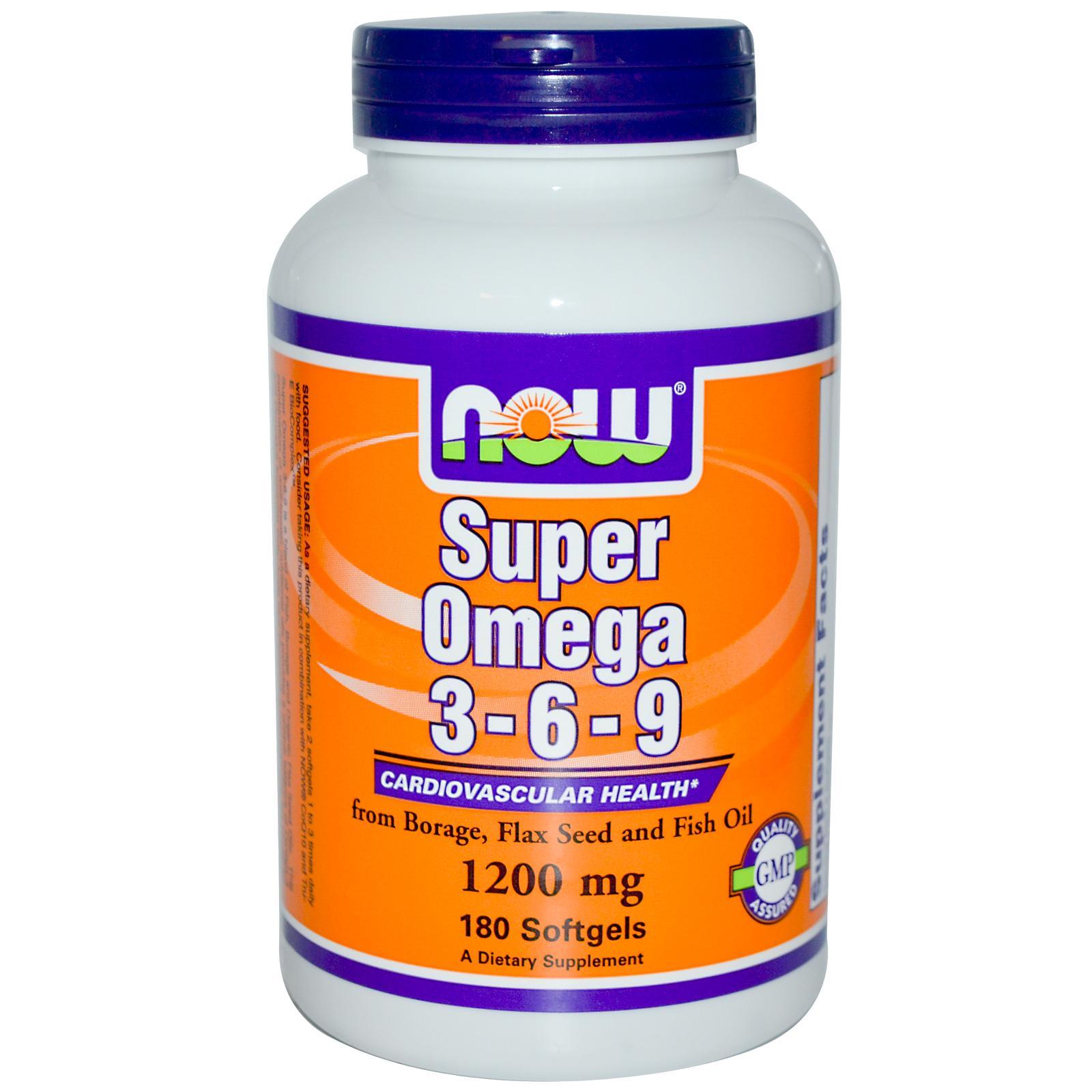 NOW FOOD Super Omega 3, 6, 9 là sự kết hợp hoàn hảo cân bằng, độc đáo giữa Omega-3, 6, 9, giúp duy trì sức khỏe tim mạch