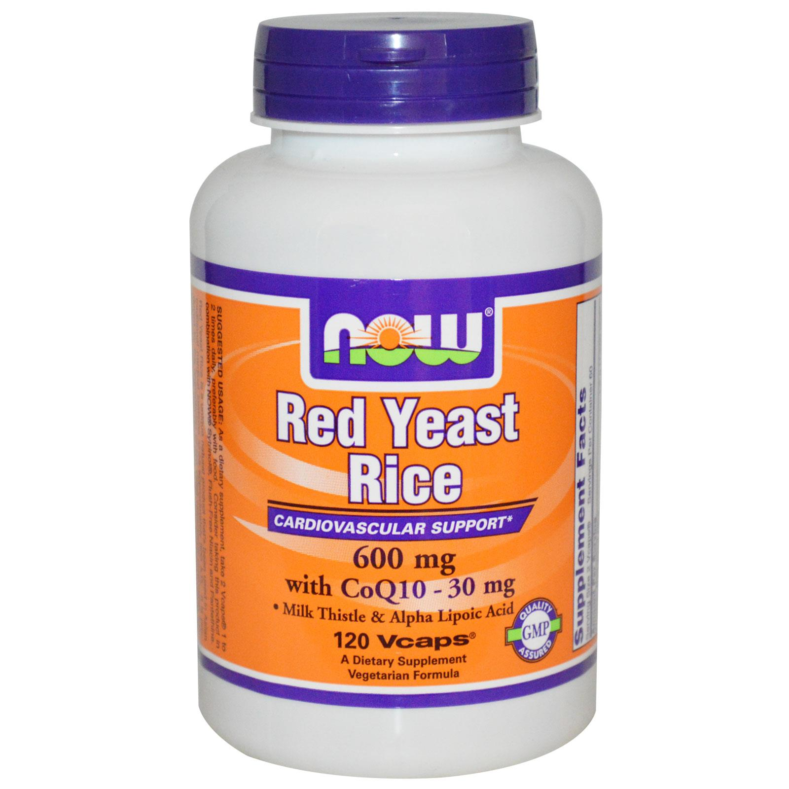 Now food red yeast rice with coq10