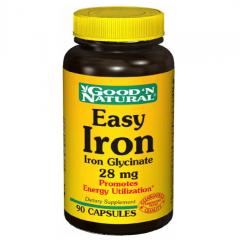 Good'n Natural Easy Iron, 28mg – viên uống bổ sung sắt giúp bổ máu và tăng cường hệ miễn dịch, 90 viên