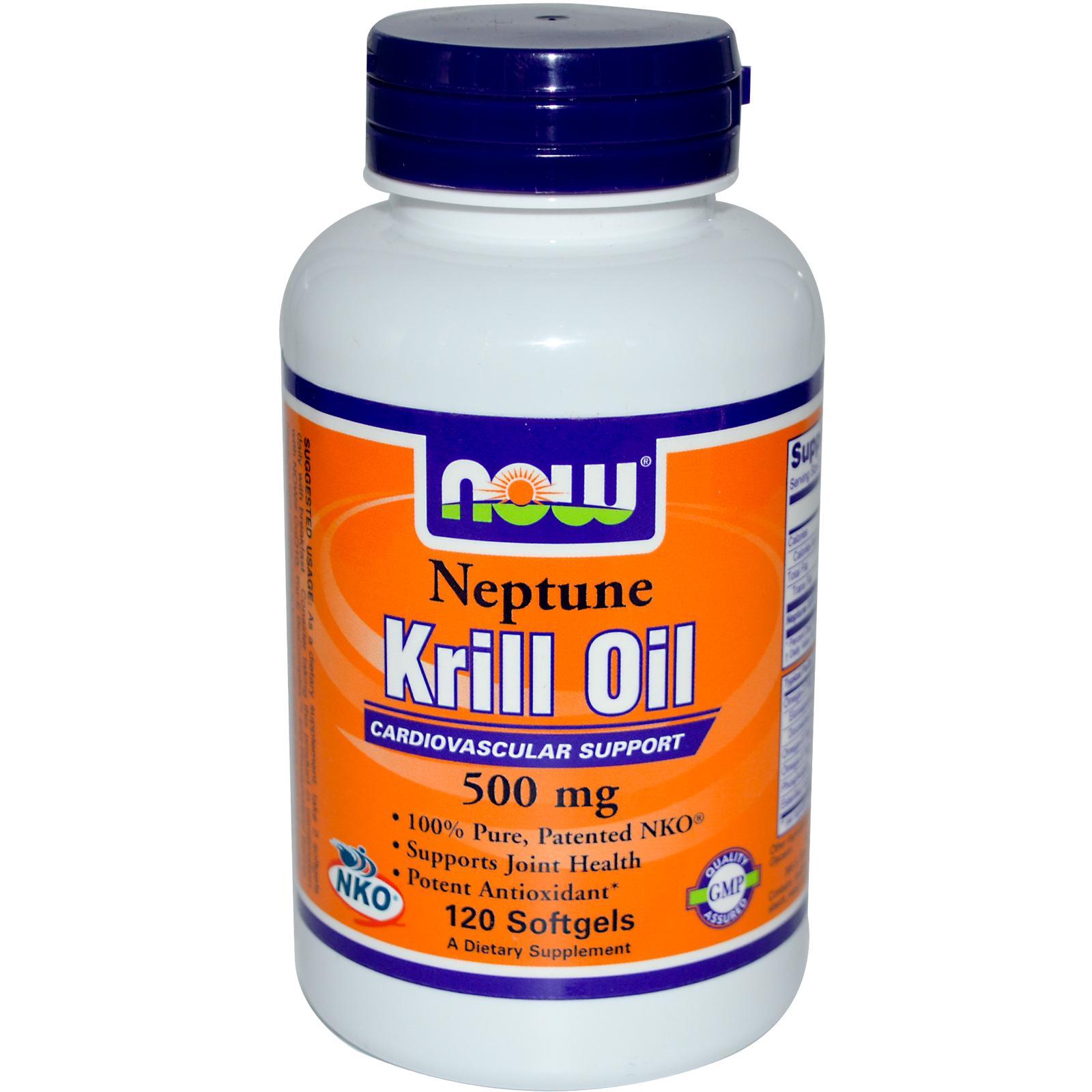 NOW FOOD Neptune Krill Oil duy trì và phòng ngừa bệnh tim hiệu quả