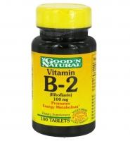 Good'N Natural Vitamin B2 – thuốc bổ sung vitamin B2 bảo vệ làn da và tăng cường năng lượng cho cơ thể, 100 viên
