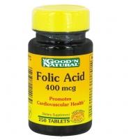 Good'N Natural Folic Acid, 400mcg – thuốc uống bổ sung Axit folic giúp bổ máu và hỗ trợ sức khỏe tim mạch, 250 viên